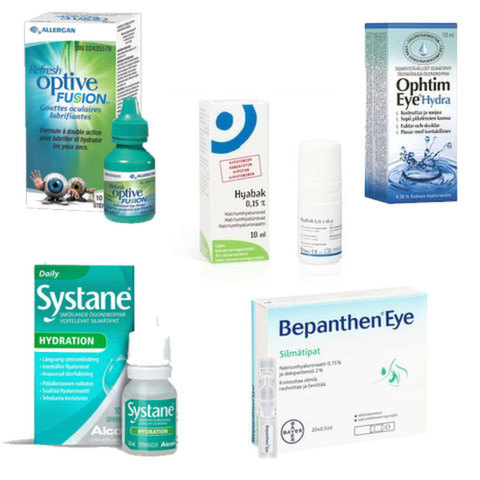 <div>Лекарства с содержанием гуалуроната: Bepanthen Eye, Hyabak, Ophtim Eye, Optive Fusion, Systane Hydration</div>